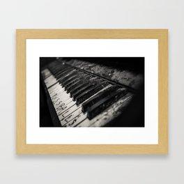 Ruined Piano Framed Art Print