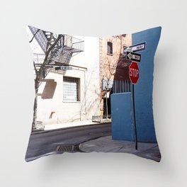 Colorful Street, Greenwich Village NYC Throw Pillow