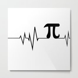 Heart beats only for PI Metal Print
