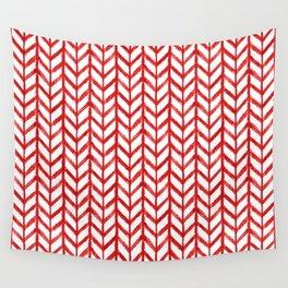 Shibori Chevrons - Peppermint Wall Tapestry