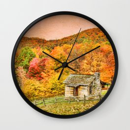 An Autumn View Wall Clock