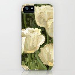 White Tulips III iPhone Case