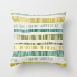 Lime Stripes Throw Pillow