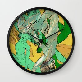 women nakked Wall Clock