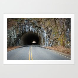 Icy Tunnel Pass If You Dare Art Print