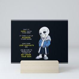 Sans the skeleton Mini Art Print