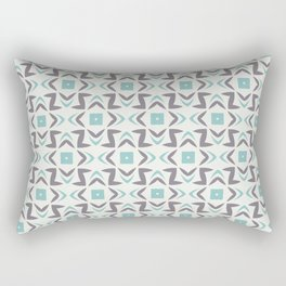 Abstract Shape Pattern 2021 Color of the Year Aqua Rectangular Pillow