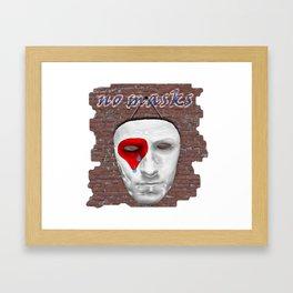 no masks Framed Art Print