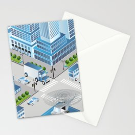 Urban crossroads Stationery Cards