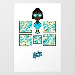 Feather Bomber Art Print