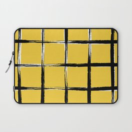 Yellow plaid, pool tiles pattern, tartan Laptop Sleeve