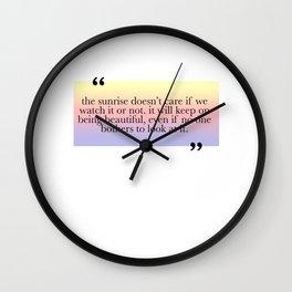 Being Beautiful Wall Clock