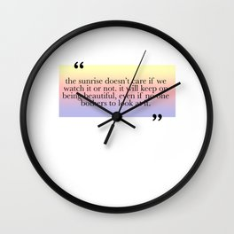 Being Beautiful Wall Clock