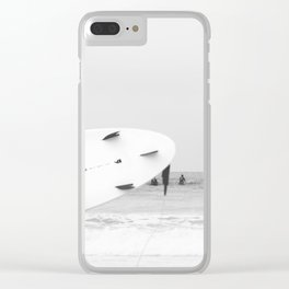 catch a wave II Clear iPhone Case