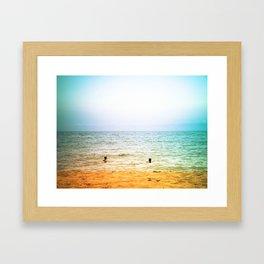 In the sea. Framed Art Print