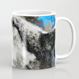 Blue Wolf Watercolor (Color) Coffee Mug