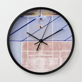 basketball court 3 Wall Clock
