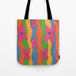 Retro: Flower Power Tote Bag