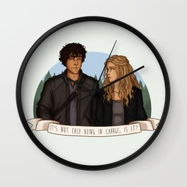 It's not easy being in charge, is it? Wall Clock