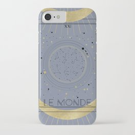 The World or Le Monde Tarot iPhone Case
