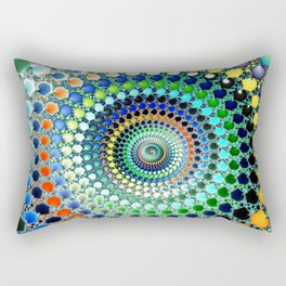 Fractal Spiral Trippy Art Print Rectangular Pillow