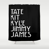 coven Shower Curtains featuring American Horror Names by Ludwig Van Bacon