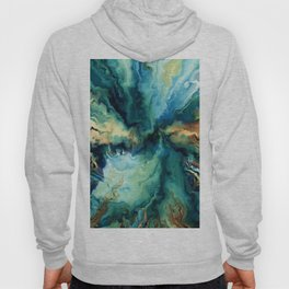 Abstract Blue Oil Painting Fractal Hoody