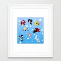 rwby Framed Art Prints featuring Chibi RWBY  by tofudelight