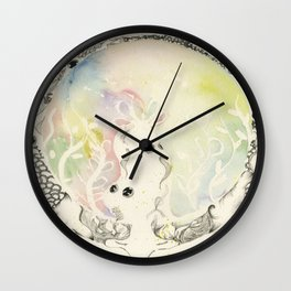 Circle of Objects And  Subjects; Round Two Series  Wall Clock