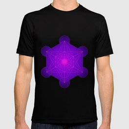 Metatron | Cube | Secret Geometry | Platonic | Matrix | Protects children T-shirt