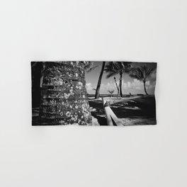 Kuau Beach Palm Trees and Hawaiian Outrigger Canoe Paia Maui Hawaii Hand & Bath Towel