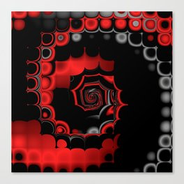 TGS Fractal Abstract in Red and Black Canvas Print