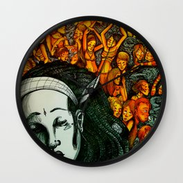 Figures in the dark Wall Clock