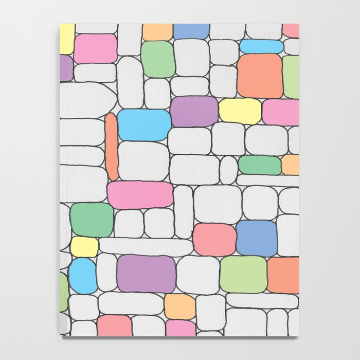 Pastel Stone Wall Notebook