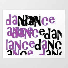 purple dance Art Print