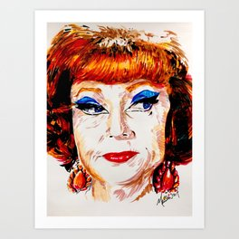 Agnes Moorehead Art Print