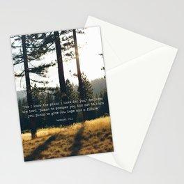 Golden Jeremiah 29:11 Stationery Cards