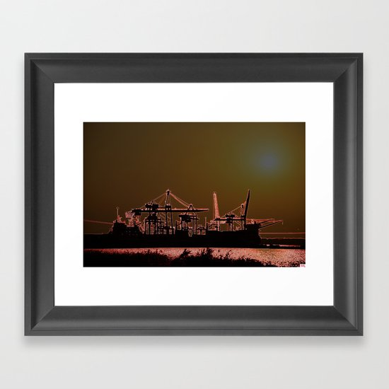 SUNSETSHORE Framed Art Print