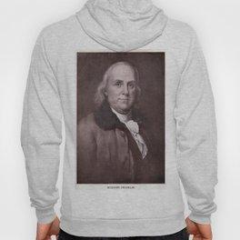 Vintage Benjamin Franklin Portrait Hoody