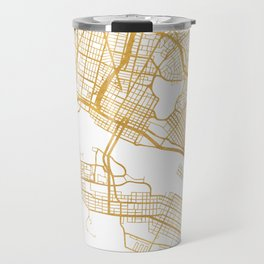 OAKLAND CALIFORNIA CITY STREET MAP ART Travel Mug