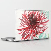 dahlia Laptop & iPad Skins featuring Bursting With Excitement  by Kate Havekost Fine Art