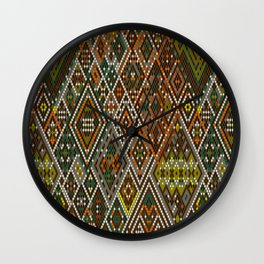 Abstract aztec pattern Wall Clock