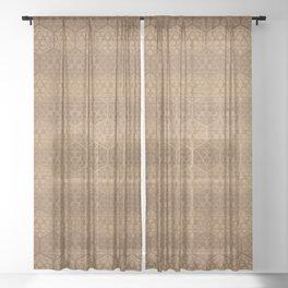 D20 Henna Icosahedron Sheer Curtain