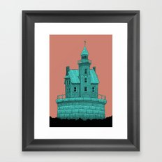 empty lighthouse Framed Art Print