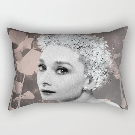 Audrey in White Rectangular Pillow