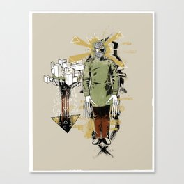 He Came With Bolts From His Eye Canvas Print