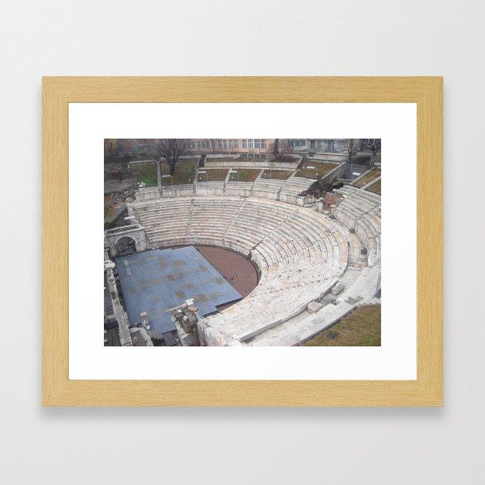 Plovdiv Roman theatre Framed Art Print