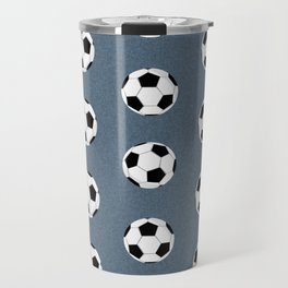Soccer pattern great decor print for nursery boys or girls rooms sports theme Travel Mug