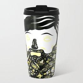 Space Beard Guy Metal Travel Mug
