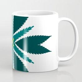 Cannabis Leaf Starflower (Green Yellow) Coffee Mug